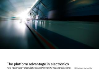 Потенциал производителей электроники создавать цифровые платформы